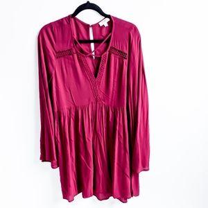 Umgee Bohemian Flare Sleeve Peasant Dress